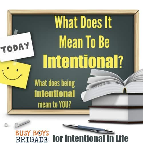 What Does It Mean To Be Intentional