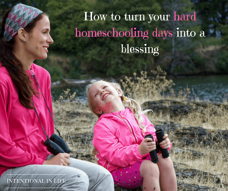 Are you having hard homeschooling days? Come on over and read my tips on how you can turn your hard days into a blessing.