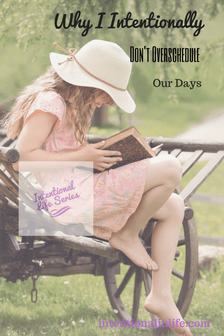 Come on over and read what Leah has to say about being intentional to not overschedule our days and how it has made motherhood much more enjoyable for her.