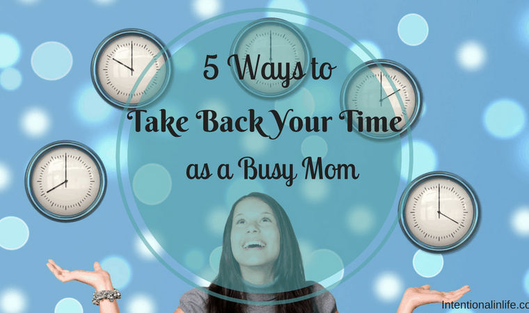 As busy moms we struggle in finding time to do ALL that we need to do. It's a constant struggle, isn't it? I want to tell you that there is hope.