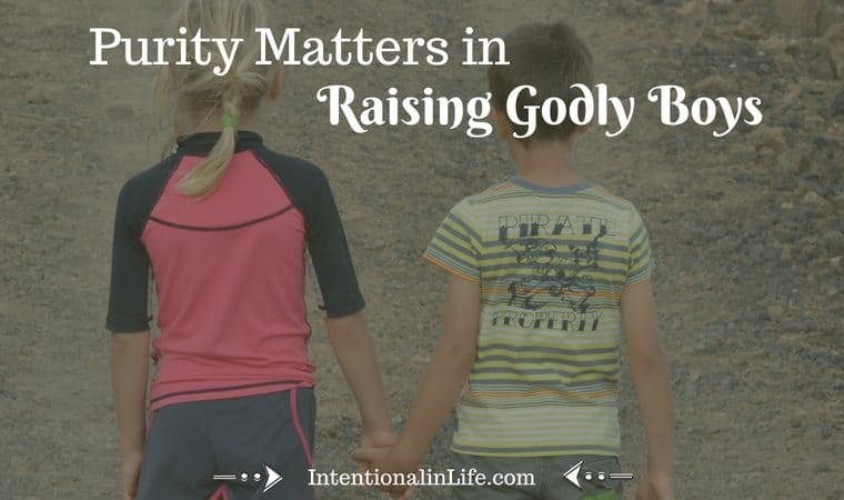 Do you ever struggle with how you are going to raise godly boys in a world where sexual purity is not a priority? Here are steps to take to instill sexual purity while raising your son.