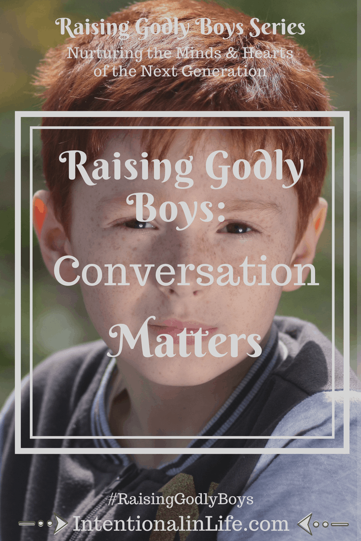When it comes to raising godly boys, one of the most important things we as parents can do is to practice the art of conversation. This involves more than simply talking to our kids. It involves talking with them.