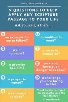 9 Questions To Help Apply Any Scripture To Your Life