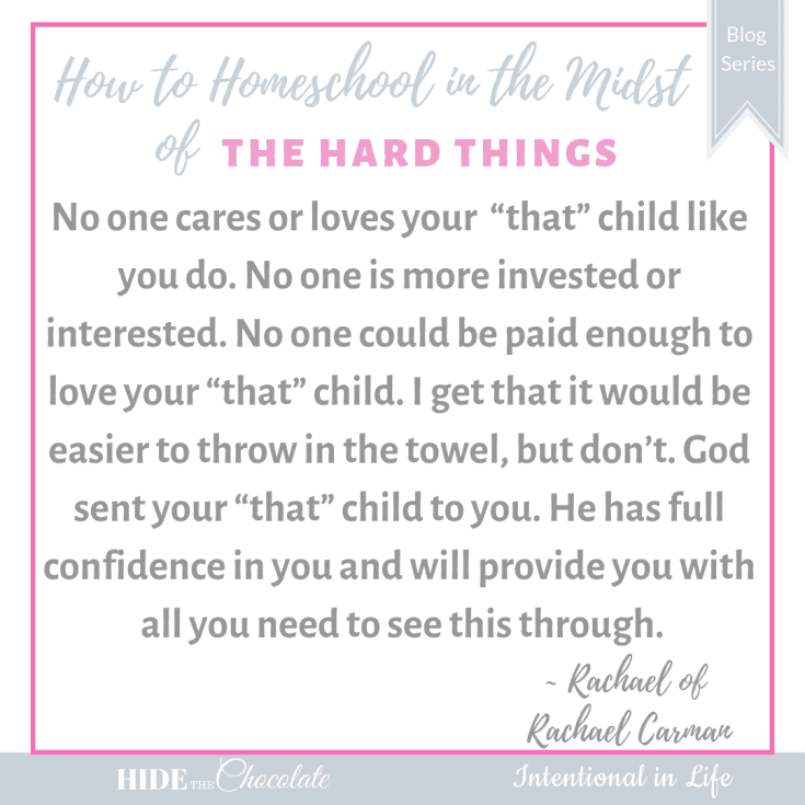 "Do you have ""that"" child? A child that is a particularly challenging. If you do, come on over and get a dose of encouragement and life changing advice."