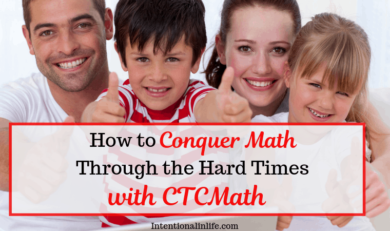 When you are going through a hard time CTCMath will help you conquer your fear of math and recover the joy of learning math once again.