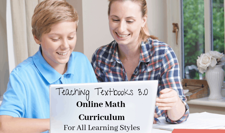 If you are looking for an online math curriculum that your child can do independently and caters to all learning styles Teaching Textbooks 3.0 is for you!