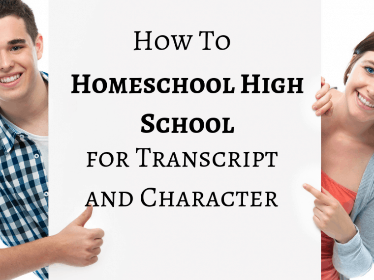 We will show you what to include in a high school transcript and how to incorporate character development during the homeschool high school years.