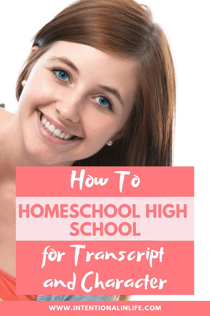 We will show you what to include in a high school transcript and how to incorporate character development during the homeschool high school years. #homeschoolhighschool #homeschoolhighschooltranscripts